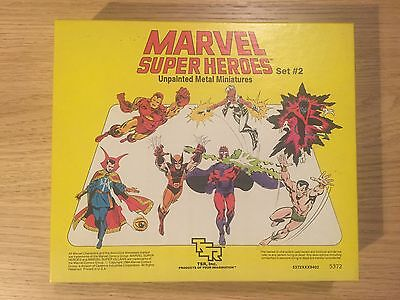 Marvel Super Heroes Miniatures Set 2 TSR Role Playing Game Unpainted New In Box
