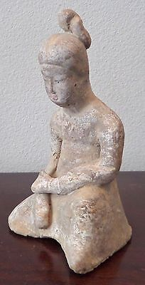 Tang Dynasty China (618-907) Terracotta Kneeling Figure