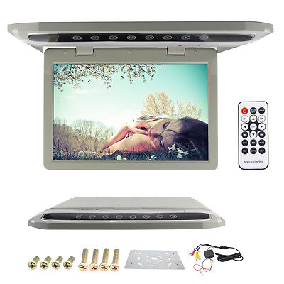 12.1'' LCD Screen Overhead Roof Mount Monitor Flip Down SD/FM/1080P/HDMI Player