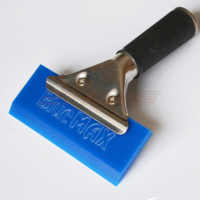 Blue Squeegee w/ Handle Rubber Water Blade Drying Blade Dry Surface Car Wrapping