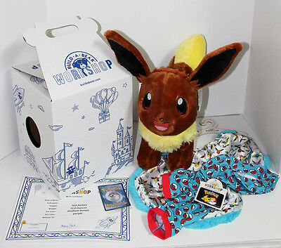 """Build-A-Bear Pokemon GO """"EEVEE"""" Online Web Exclusive Complete Package Set NWT"""