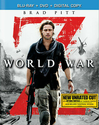 World War Z [New Blu-ray] With DVD, Widescreen, Subtitled, Unrated, 2 Pack, Ac