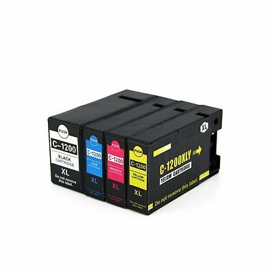 4x ink cartridge PGI-1200 XL BK C M Y compatible for Canon MAXIFY MB2020