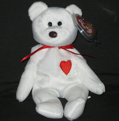 TY VALENTINO the BEAR BEANIE BABY - MINT with MINT TAGS