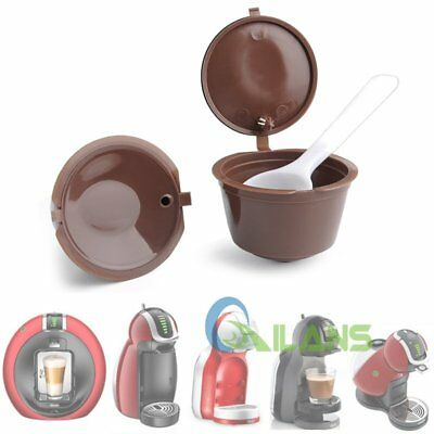 2pcs Refillable Reusable Compatible Coffee Capsules Pods for Dolce Gusto Machine