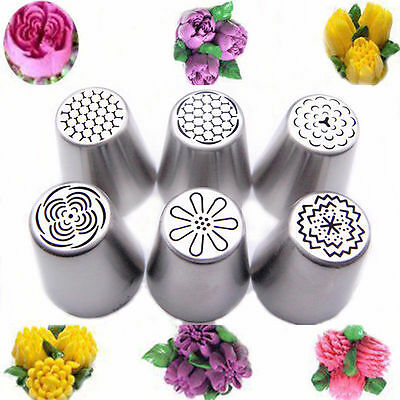 Russian Tulip Flower Cake Icing Piping Nozzles Decorating Tips Baking Tools