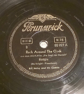 SC052 Schellack BRUNSWICK 82827, Bill Haley Rock Around the Clock, A.B.C. Boogie