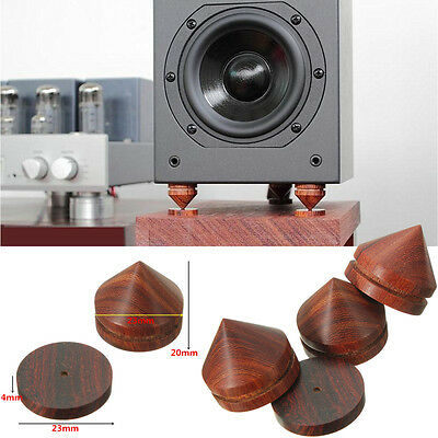 8 pcs spikes+ Pads Rosewood Speaker Isolation feet stand 23mm / 0.91'' Wooden