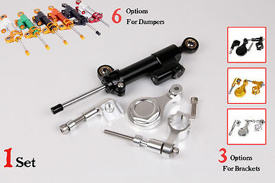 Steering Damper complete Set for YAMAHA YZF R1 1998-2004 2003 with bracket kits