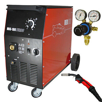 SWP Redline Mig 180 Turbo Workshop Welder 180amp Welding Machine with MIG Torch