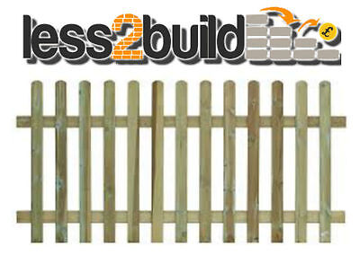 Treated Round Top Picket Fencing 6X4ft Garden,Landscaping,DIY Projects Timber