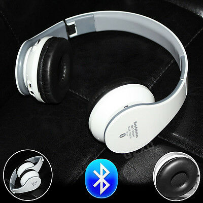 WIRELESS BLUETOOTH 3.0 HEADPHONE HEADSET MIC FOR TV IPAD IPHONE Travel Gift