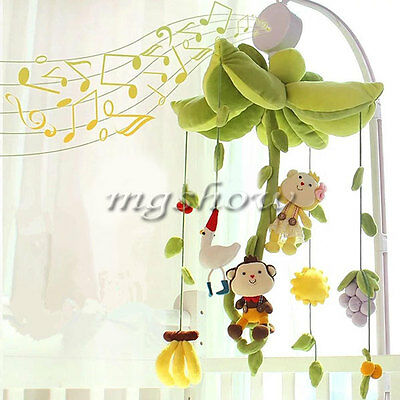 Baby Infant Kids Mobile Crib Bed Toy Clockwork Movement Music Box Bedding Rotary