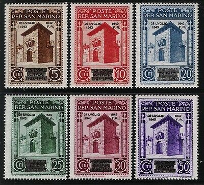 SAN MARINO 1943 Old Mint Overprinted Stamps - 20th. Anniversary of Fascism
