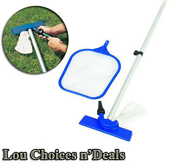 Pool Cleaning Kit Swimming Filter Water Net Cleaner Hose Vacuum Pole Skimmer Spa