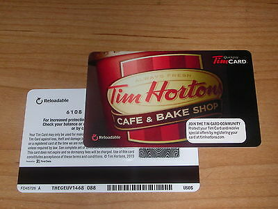 Tim Hortons 2015 USA Cafe & Bake Shop w/Lid Gift Card FD45726 A