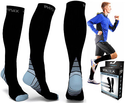 Socks Compression Leg Support Stocking Knee Sleeve Calf Sports Shin Men Plantar