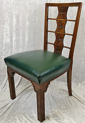 Good Quality Early 20th Century Chinoiserie Design Leather Seated Chair