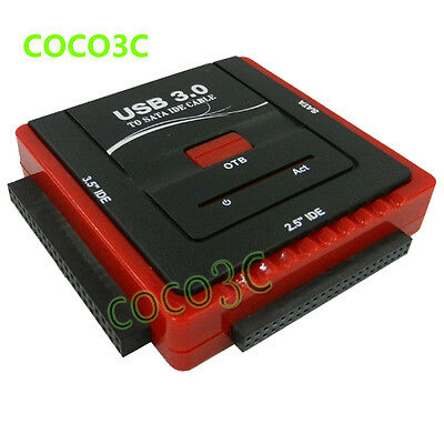"USB 3.0 To 2.5"" 3.5"" SATA IDE HDD CD-ROM CD-R adapter SSD Data Offline Clone OTB"