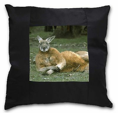 Cheeky Kangaroo Black Border Satin Feel Cushion Cover With Pillow Inse, AK-1-CSB