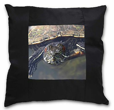 Terrapin Intrigued by Camera Black Border Satin Scatter Cushion Chris, AR-T1-CSB