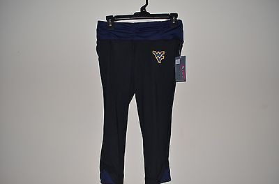 4a168c1d95040 NWT West Virginia Mountaineers WVU Sports Running Yoga Pants Capris Size XS