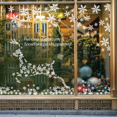 Christmas Reindeer Self Cling Window Sticker Decoration for Shop Display / Home