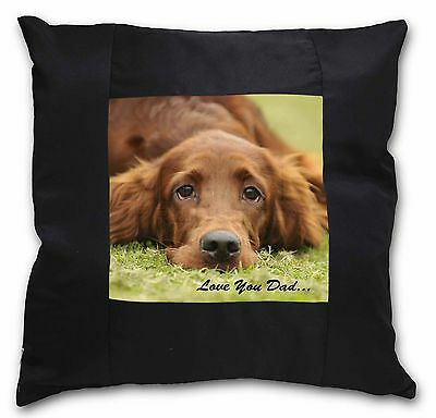 Red Setter Dpg 'Love You Dad' Black Border Satin Scatter Cushion Chr, DAD-93-CSB