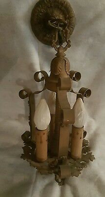Vintage- Antique Art Deco Ceiling Light Fixture with 3 Lights!