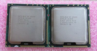 2x Intel Xeon X5680 3,33 GHz Six Core Prozessor CPU Matched Pair