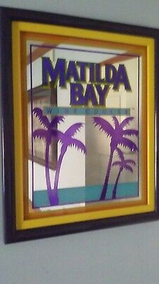 Matilda Bay Imported Wine Cooler Advertising Mirror Sign. Vintage Bar Exc.cond..