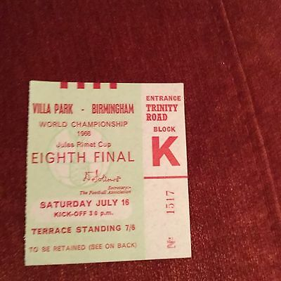 1966 World Cup Ticket West Germany v Argentina