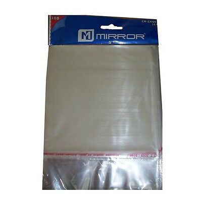 Specchio Custodia CD Wrap Cover Protettiva 25 Micron/Custodia Wrapper 100 Pack