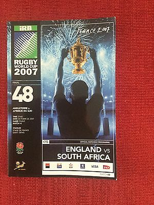 2007 Rugby Union World Cup Final Programme, England v South Africa