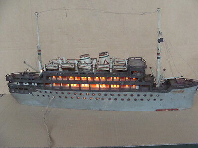 Nave Piroscafo Marco Polo Vintage Boat Model Carette Epoca 1940 1950 Old