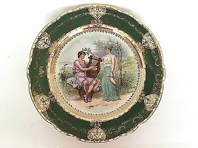 Imperial Crown Austria Green Gold Portrait Decorative Collector Display Plate