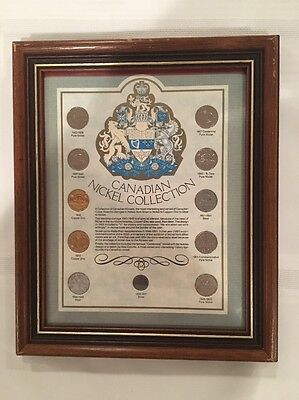 Canadian Nickel Collection Framed