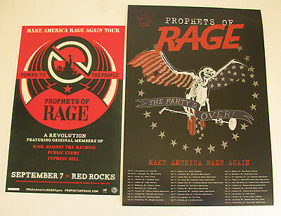 PROPHETS OF RAGE Make America Rage Again Tour 2016 & Red Rocks Gig Poster