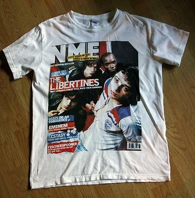 T Shirt, NME Icons The Libertines Size M White Limited Rare Pete Doherty 2002