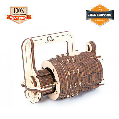 UGEARS Combination Lock Wood Model Kit Construction Toy 3D Puzzle