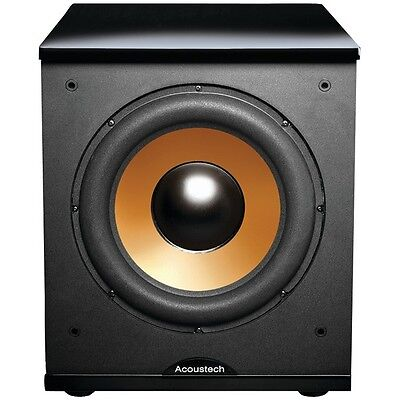 """BIC AMERICA H-100II 12"""" Front-Firing Powered Subwoofer with Black Lacquer Top"""