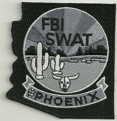 FBI: ARIZONA - PHOENIX  SWAT  S.W.A.T.  BLACK  Police Patch SEK Polizei Aufnäher