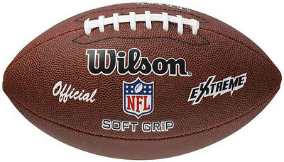 Wilson NFL Extreme American Football Leather Sport Game Ball Synthetic Original