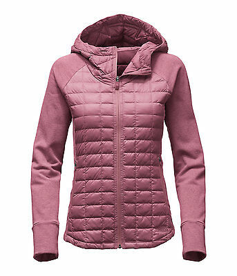 The North Face Women's ENDEAVOUR THERMOBALL Hybrid Hooded Jacket Rose Pink M 10