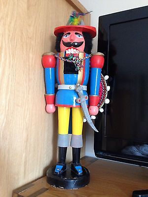 Rare Large Retro Old Vintage Collectible Nut Cracker Soldier Ornament 45 Cm Tall