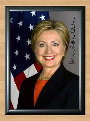 Hilary Cliton US Elections Memorabilia Signed Autographed A4 Print Photo Poster