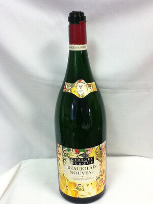 "Beaujolais Nouveau Georges Dubceuf wine 1 3 liter 18"" store display bottle WA6"
