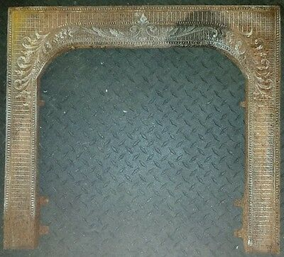 Antique fireplace summer cover frame vintage original old rust fire place decor!