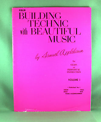 Building Technic with Beautiful Music Violin Volume 1 - Brand New