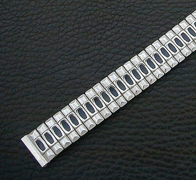 NOS 16mm '40s/Vintage Stainless & Enamel Watch Band